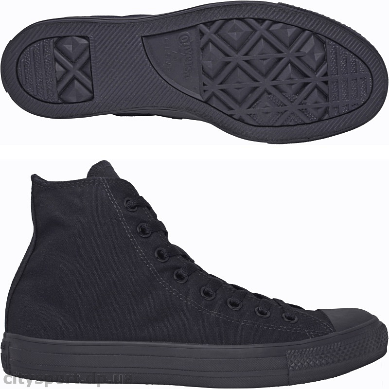 "Кеды ""Converse Chuck Taylor All Star Hi Black Monochrome"""