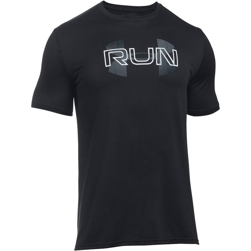 "Футболка мужская ""Under Armour Run Overlap Logo SS"""